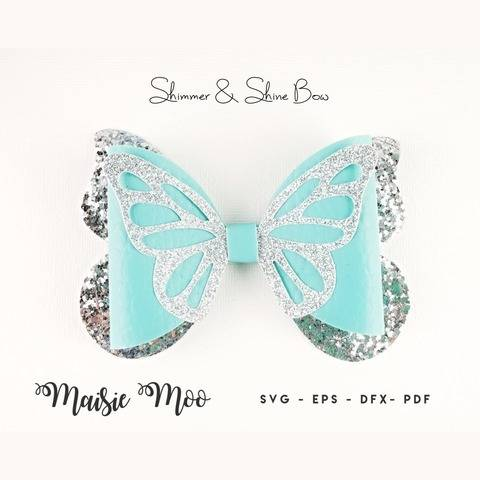 Butterfly Bow Template SVG, Bow SVG,