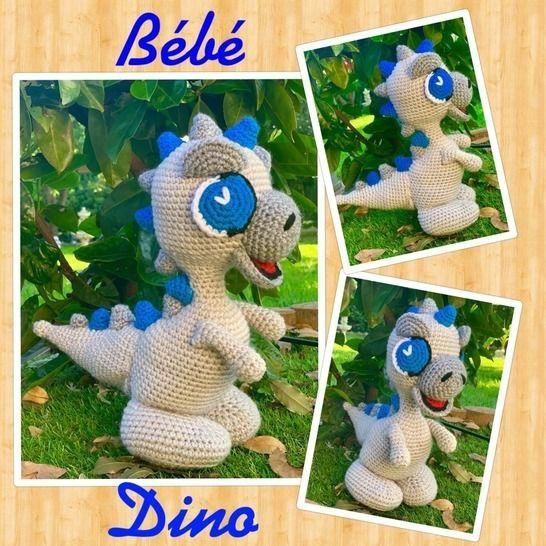 TUTO PDF bébé Dino crochet chez Makerist - Image 1