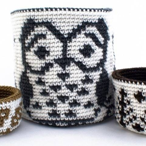 Reversible Forest Trio of Baskets at Makerist