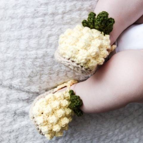 015 - Pineapple baby shoes at Makerist