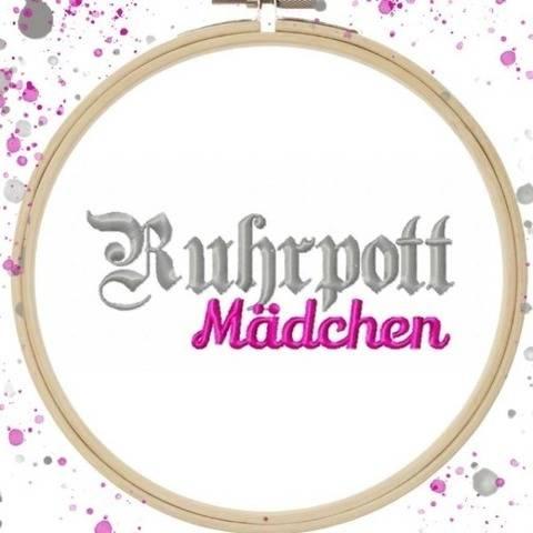 Stickdatei #Ruhrpottmädchen ab 10x10 Rahmen bei Makerist