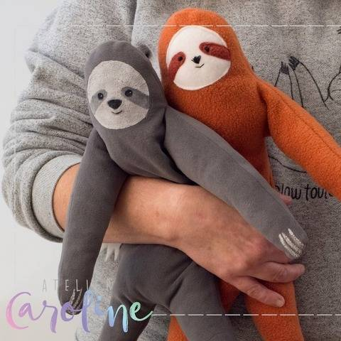 Plush stuffed Sloth sewing pattern bei Makerist