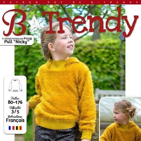 Pull NICKY Patron de Couture + Tutoriel