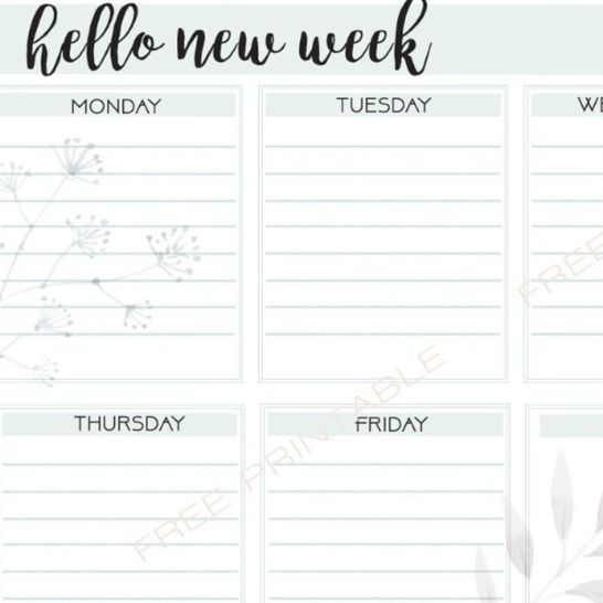 Free PDF Printable: Weekly Planner at Makerist - Image 1