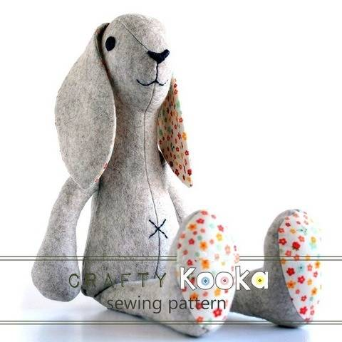 Bunny rabbit sewing pattern -  pdf sewing pattern (EN) bei Makerist