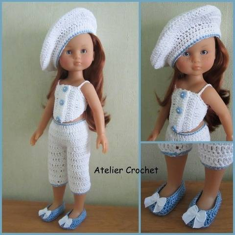 """White"" crochet pattern for Chérie Corolle at Makerist"