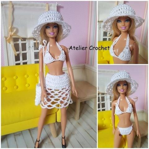 """Bikini"" crochet pattern for Barbie at Makerist"