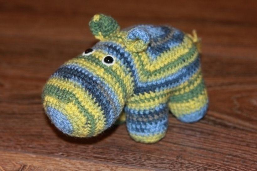 Häkelanleitung Waltraud, das Hippo bei Makerist - Bild 1