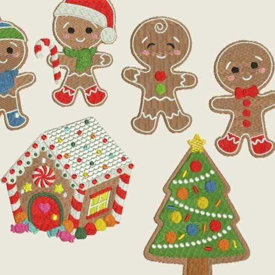 Stickdatei Winter Weihnachten Lebkuchenmann 366 bei Makerist - Bild 1
