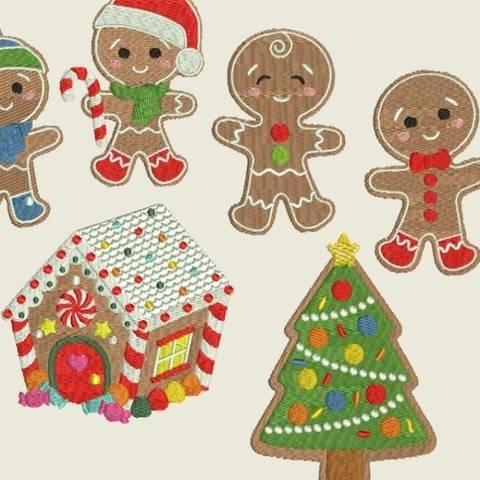 Stickdatei Winter Weihnachten Lebkuchenmann 366 bei Makerist