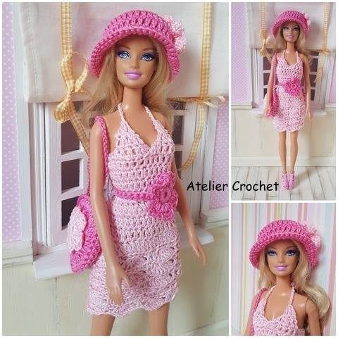 """Wisteria"" crochet pattern for Barbie at Makerist"