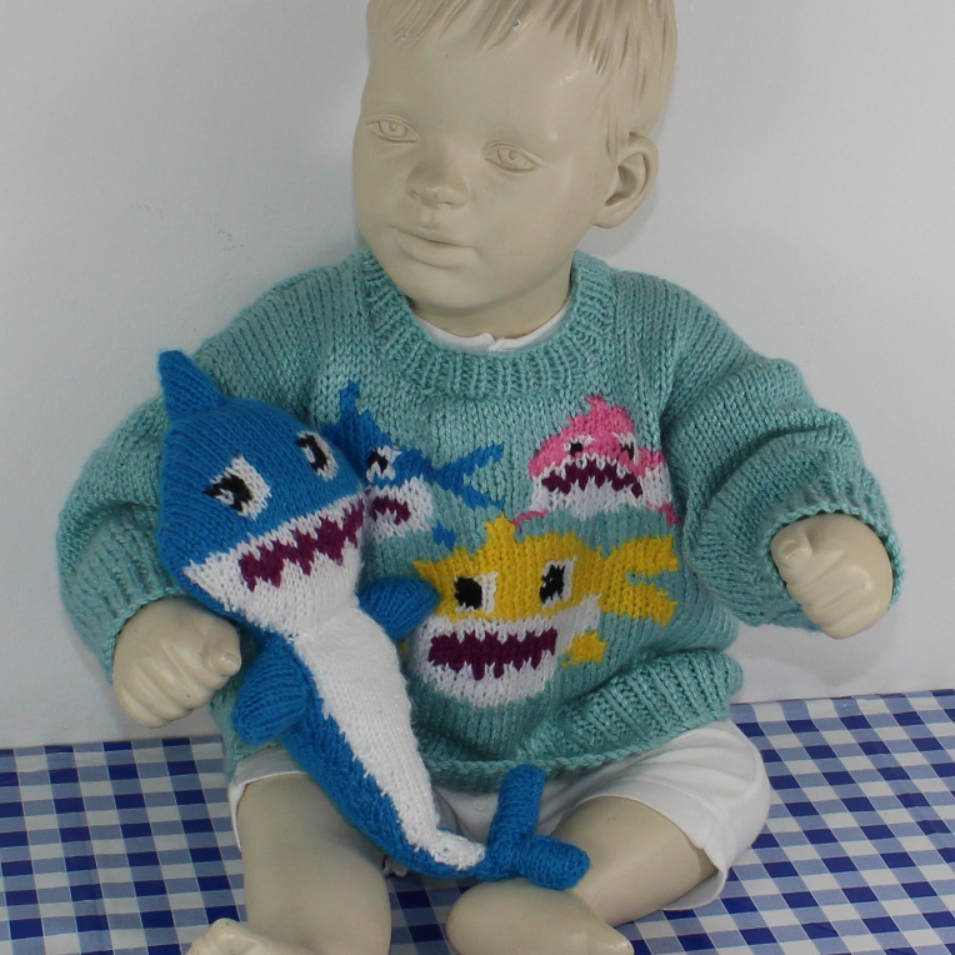 Baby & Toddler Shark Family Sweater & Toy