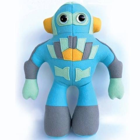 Retro Robot plush sewing pattern - instant download pdf