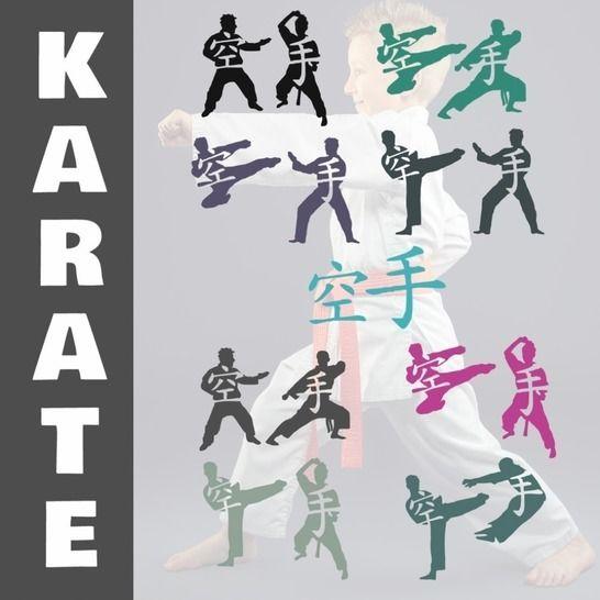 KARATE Doppelshadows 8 x Karate Motive bei Makerist - Bild 1