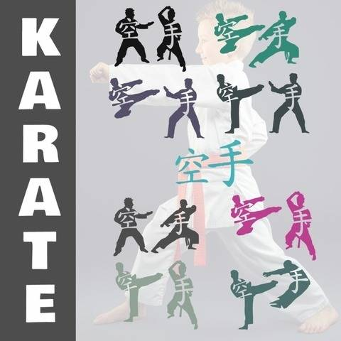 KARATE Doppelshadows 8 x Karate Motive