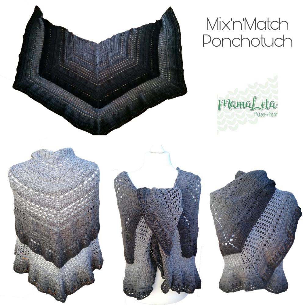 """Ponchotuch """"Mix'n'Match"""" von MamaLela - Häkelanleitung"""