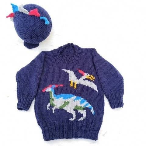 Dinosaur Child's Sweater and Hat - Jurassic at Makerist