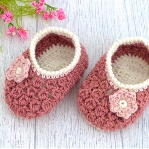 """Baby Shoes """"Charlotte"""", 0-6 months – Crochet Pattern at Makerist"""