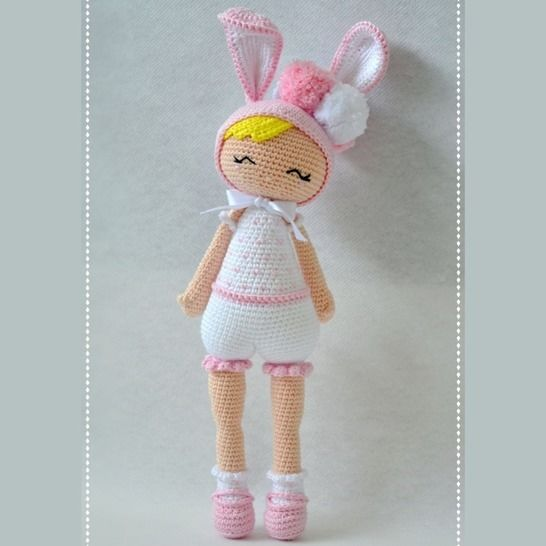 Eleonore the rabbit-P'tite Pest-Pattern Crochet/Amigurumi at Makerist - Image 1
