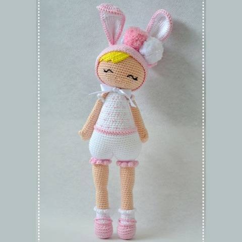 Eleonore the rabbit-P'tite Pest-Pattern Crochet/Amigurumi at Makerist