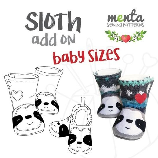 Add on to Menta Booties & Shoes Sloth NB to 24 months at Makerist - Image 1
