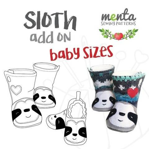 Add on to Menta Booties & Shoes Sloth NB to 24 months