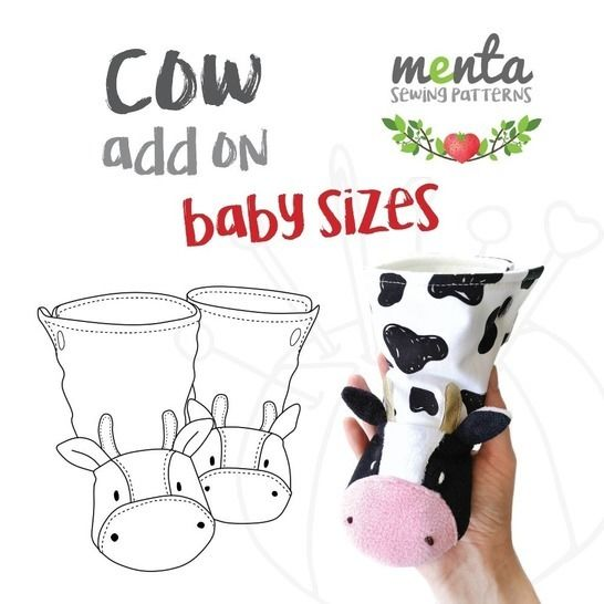 Add On to Menta Booties Cow Baby Nb to 24 months at Makerist - Image 1