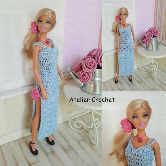 """Céline"" crochet pattern for Barbie at Makerist - Image 1"