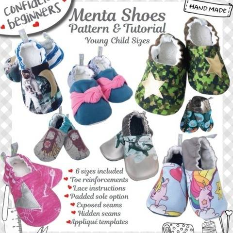 Menta Shoes DIY Young Child sizes at Makerist