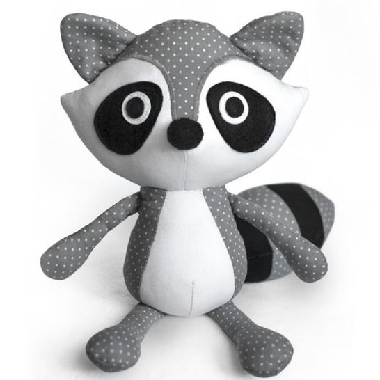 Raccoon plush toy sewing pattern at Makerist - Image 1