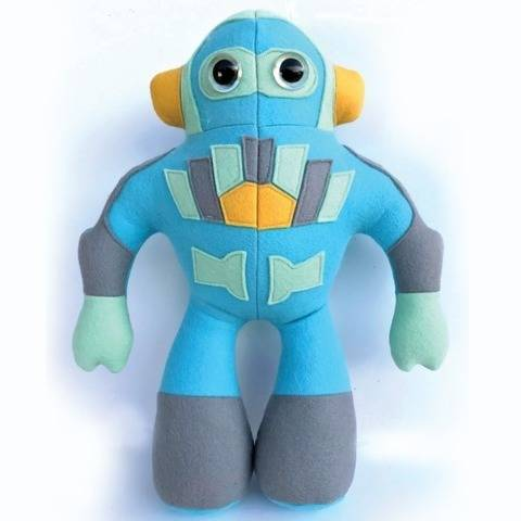 Robot toy sewing pattern with appliqué. (EN) bei Makerist