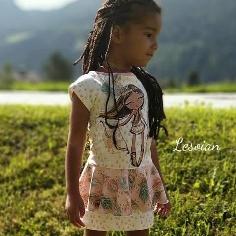 Kleid Ariosa mit Ärmel, Bleistift- & Volantrock Gr. 104-164 bei Makerist