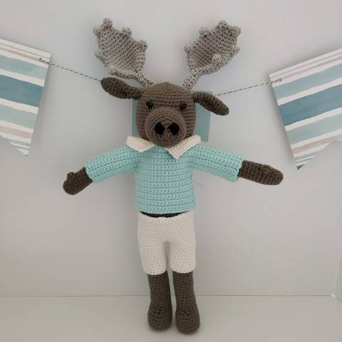 Amigurumi – Moody the moose - crochet – tutorial at Makerist