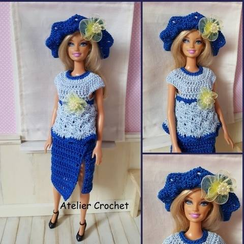 """Clémence"" crochet pattern for Barbie at Makerist"