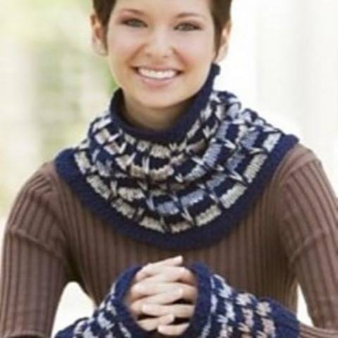 Cowl and Mitts - Corinna Cowl and Mitt Set