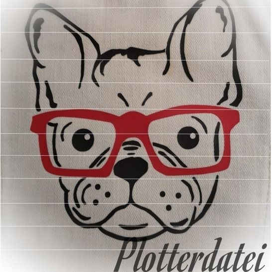 Plotterdatei Frenchie bei Makerist - Bild 1