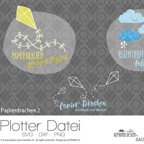 "Plotter-Datei ""Papierdrachen"" #2 bei Makerist"
