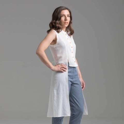 Chemisier et robe chemise - patron PDF - Feuillage
