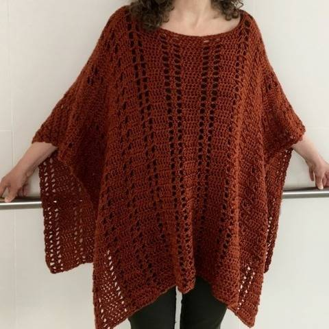 Crochet Poncho Pattern (Perks-Me-Up Poncho) at Makerist