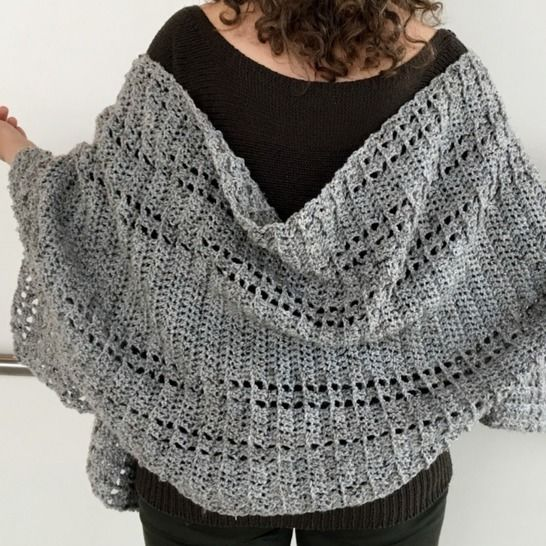 Crochet Shawl Wrap Pattern PDF (Shawl We Wrap-It-Up Wrap) at Makerist - Image 1