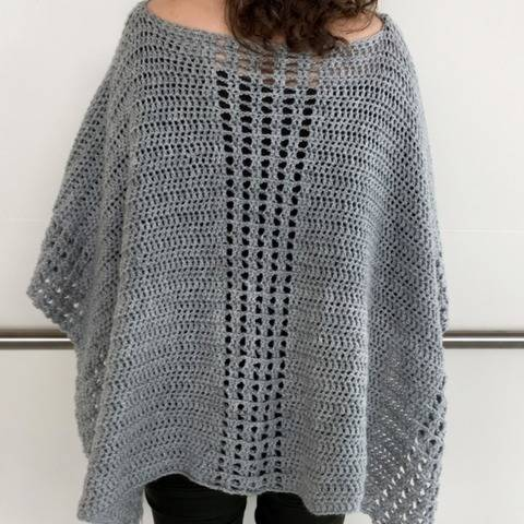 Easy Crochet Poncho Pattern (My Easy On-The-Go Poncho) at Makerist
