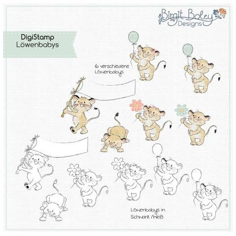 Birgit Boley Designs • DigiStamp Löwen babys