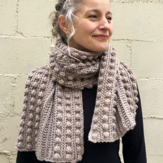 Crochet Scarf Pattern PDF (Bobble-Wrap Scarf) at Makerist - Image 1