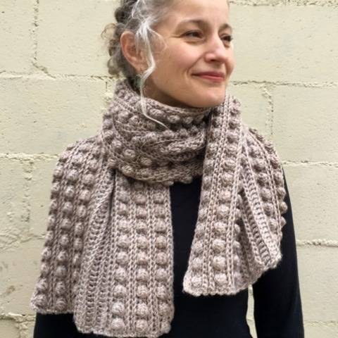 Crochet Scarf Pattern (Bobble-Wrap Scarf) at Makerist