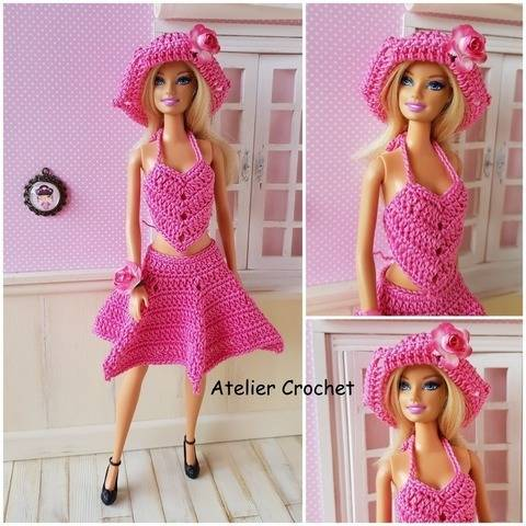 """Barbara"" crochet pattern for Barbie at Makerist"