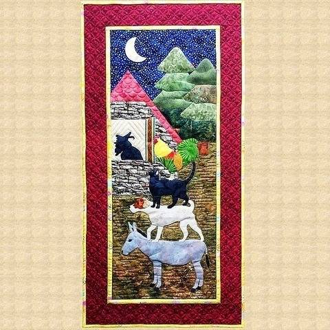 Bremen Town Musicians Quilted Wall Hanging Pattern at Makerist