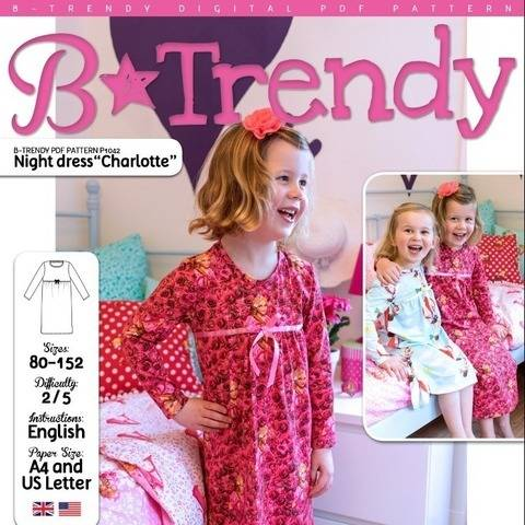 Night dress CHARLOTTE PDF Pattern + Tutorial at Makerist