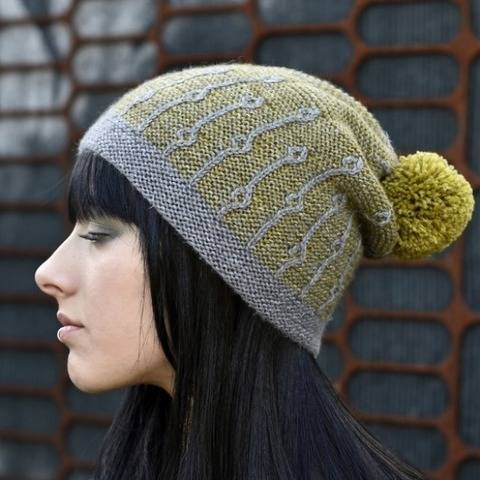 Joyce slouchy beanie Hat PDF knitting pattern at Makerist