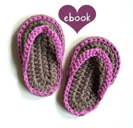 ❤ Häkelanleitung  ❤ Baby Flip Flops bei Makerist - Bild 1