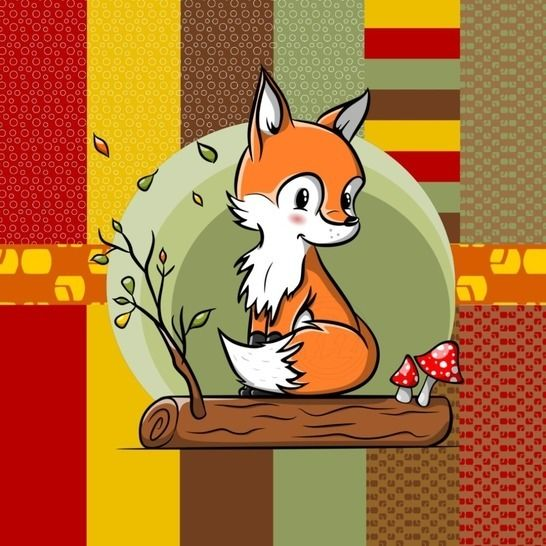 Digistamp Fuchs Herbst bei Makerist - Bild 1